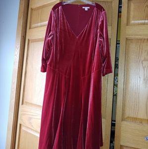 Coldwater Creek velvet dress